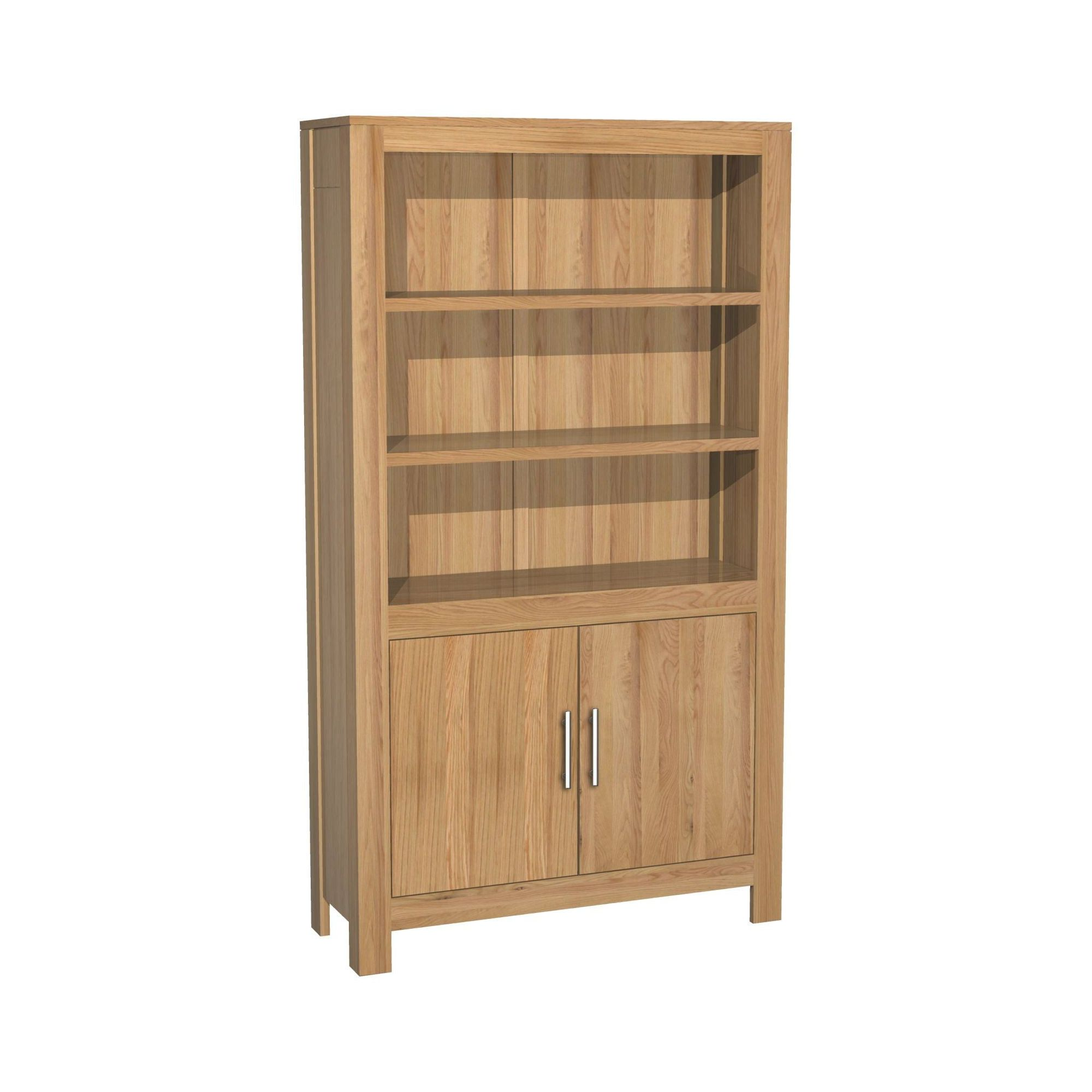 Kelburn Furniture Milano Cupboard Bookcase in Clear Satin Lacquer at Tesco Direct