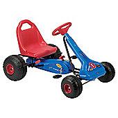 Streetfox Pedal Go Kart, Blue/Red