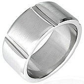 Urban Male Modern Men's Stainless Steel Ring 10mm Wide Band