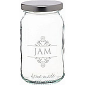 KitchenCraft Home Made 454ml Decorated 'Jam' Preserving Jar Loose
