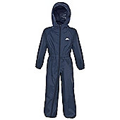 Trespass Button All In One Waterproof Rain Suit - Navy