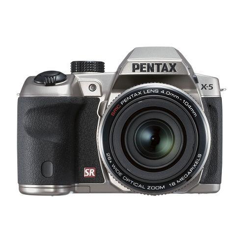 Pentax Optio X-5 Bridge Camera Silver 16MP 26xZoom 3.0LCD FHD 22.3mm Wide Len
