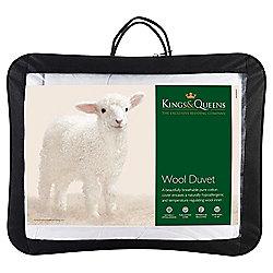 Kings & Queens 100% Wool Duvet Superking 300gsm