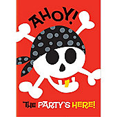 Pirate Party Invitation Cards (8pk)