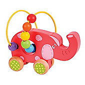 Bigjigs Toys BB071 Elephant Push Along Bead Frame