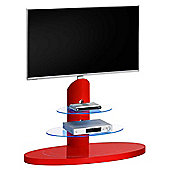 Maja 1636 Pastel Red Cantilever TV Stand