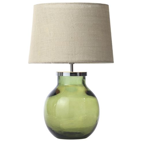 Buy Aldeburgh Recycled Glass Table Lamp Olive Green From