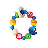Heimess 734880 Wooden Elasticated Touch Ring Rattle (Boat)