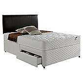 Silentnight Miracoil Comfort Micro Quilt 2 Drawer Divan, Double - Super king (6ft)