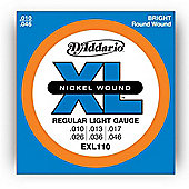 D'Addario EXL110 Electric Guitar Strings - Reg. Light