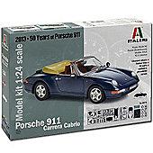 Italeri Porsche Carrera Cabrio 3679 1:24 Model Kit Cars