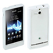 Sony Original Rubber Case Hard for Sony Xperia U - White