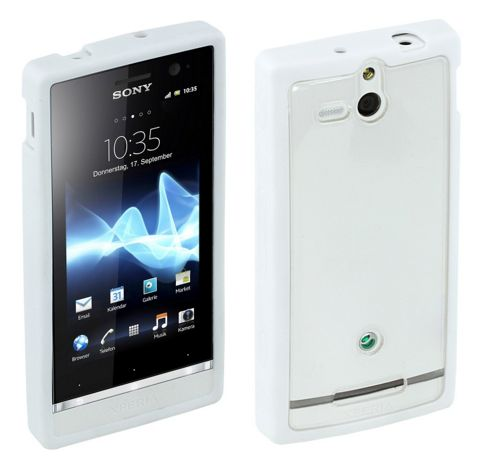 Sony Original Rubber Case for Xperia U - White
