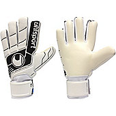 Uhlsport Fangmaschine Soft Hn Junior Goalkeeper Gloves - White