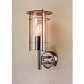 Elstead Lighting Prague Wall Lantern in Stainless Steel