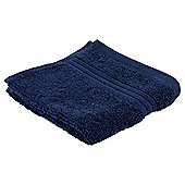 Tesco Hygro 100% Cotton Face Cloth, Navy