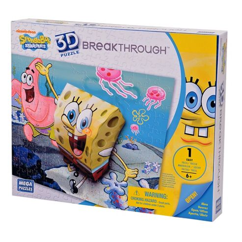 Mega Bloks Breakthrough 3D Puzzle Sponge Bob & Patrick Level 1