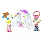 Sylvanian Families - Peaches and Freddys swing and play
