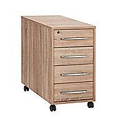 Maja- Möbel Filing Cabinet - Sonoma-Oak / White High Gloss