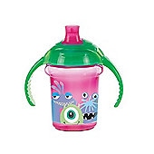 Disney Baby Click Lock 7oz Trainer Cup Monsters Inc Pink/Green