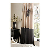 Catherine Lansfield Home Fine Luxury Collection Lotus Curtains Black 168cm wide x 183cm drop (66x72 inches)