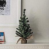 45cm Mini Artifical Christmas Tree with Burlap Base