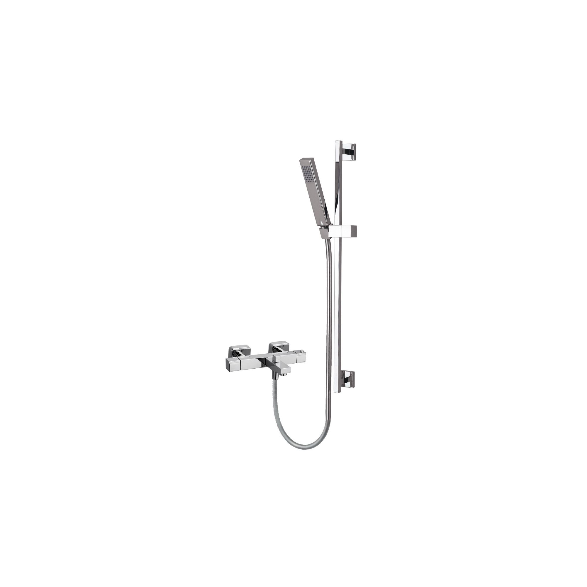 Ramon Soler Thermokuatro Exposed Thermostatic Bath/Shower Mixer with Kuatro Shower Kit at Tesco Direct