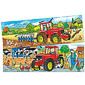 Bigjigs Toys BJ050 Duo Puzzle Tractor