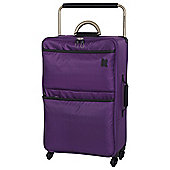 IT Luggage World's Lightest 4-Wheel Suitcase, Purple Magic Medium