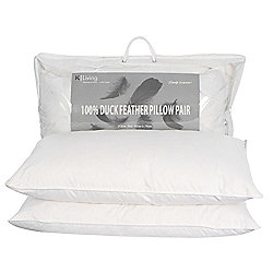 Kliving Pair of Duck Feather Pillows White