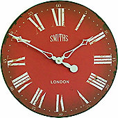 Roger Lascelles Clocks Smiths Wall Clock - Red