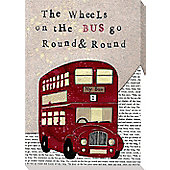 Nursery Rhymes Canvas - Wheels On The Bus