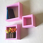 Bloc - Set Of Three Storage / Display Cubes - Pink