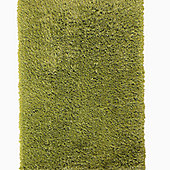 Think Rugs Monte Carlo Green Shaggy Rug - 80 cm x 140 cm (2 ft 8 in x 4 ft 7 in)