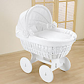 Leipold Topaz Wicker Hood Crib in White