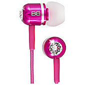 BassBuds In-Ear Headphones w/mic Pink
