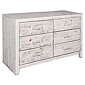 Home Essence Portobello 6 Drawer Chest - Large (80 cm H x 120 cm W x 45 cm D)