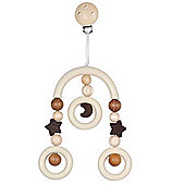 Heimess 735260 Wooden Mini Trapeze Clip On Mobile (Moon and Stars)