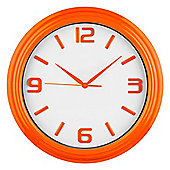 Premier Housewares Wall Clock - Orange