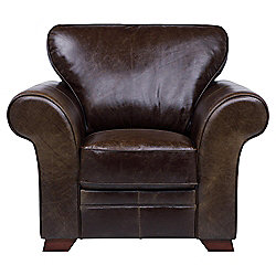 Aldeborough Leather Armchair, Walnut