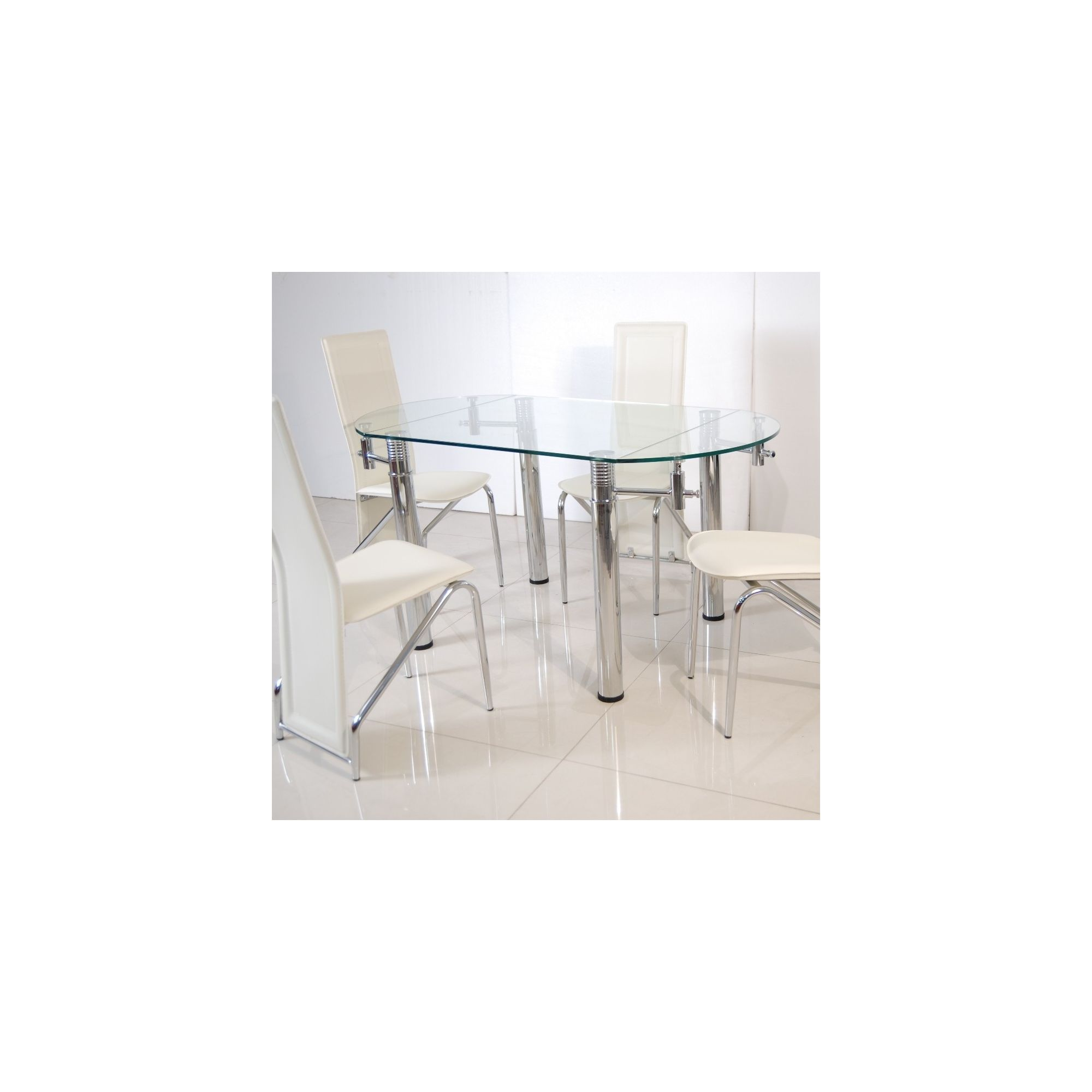 Solway Furniture Oscar Oval 5 Piece Extending Dining Table Set - Cream at Tesco Direct