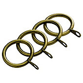 29mm Curtain Rings Antique Brass Pack of 4