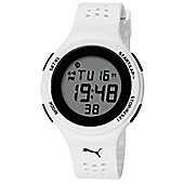 Puma Gents Faas 200 Digital White Resin Sport Strap Watch PU910931002