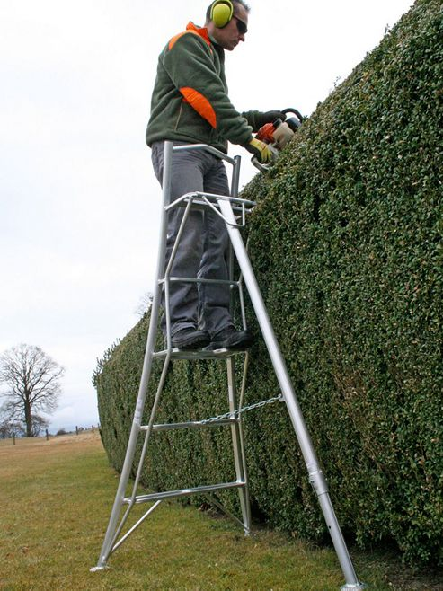 Ladders-Online Trade 3m (9.84ft) Platform - Garden Hedge Cutting Tripod Ladder
