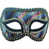 Striped Rainbow Mask On Headband