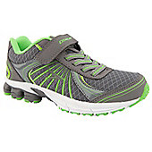 Osaga Boys Approach 2 Grey and Green Casual Trainers
