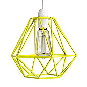 Diablo Yellow Wire Frame Non Electric Pendant Shade