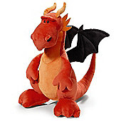 NICI Red and Black Dragon Soft Toy sitting 30cm - Toys/Games