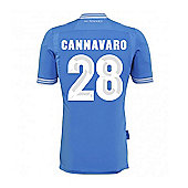 2013-14 Napoli Authentic Home Shirt (Cannavaro 28) - Blue