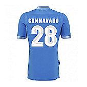 2013-14 Napoli Authentic Home Shirt (Cannavaro 28) - Blue